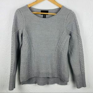 CYNTHIA ROWLEY cable knit wool sweater SZ M